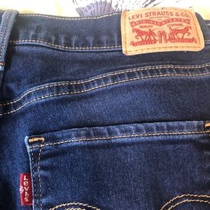 Shaping straight Levis - Dark Blue